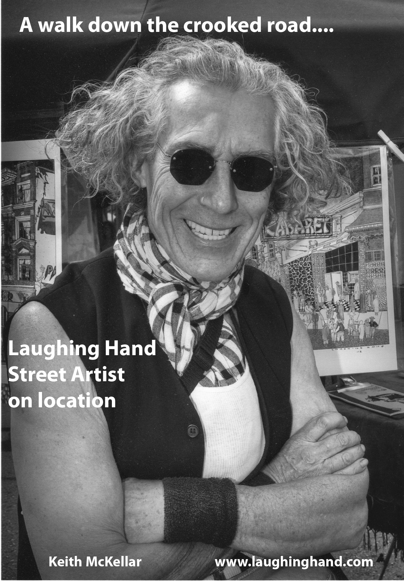 Laughing Hand Street Artist on Location